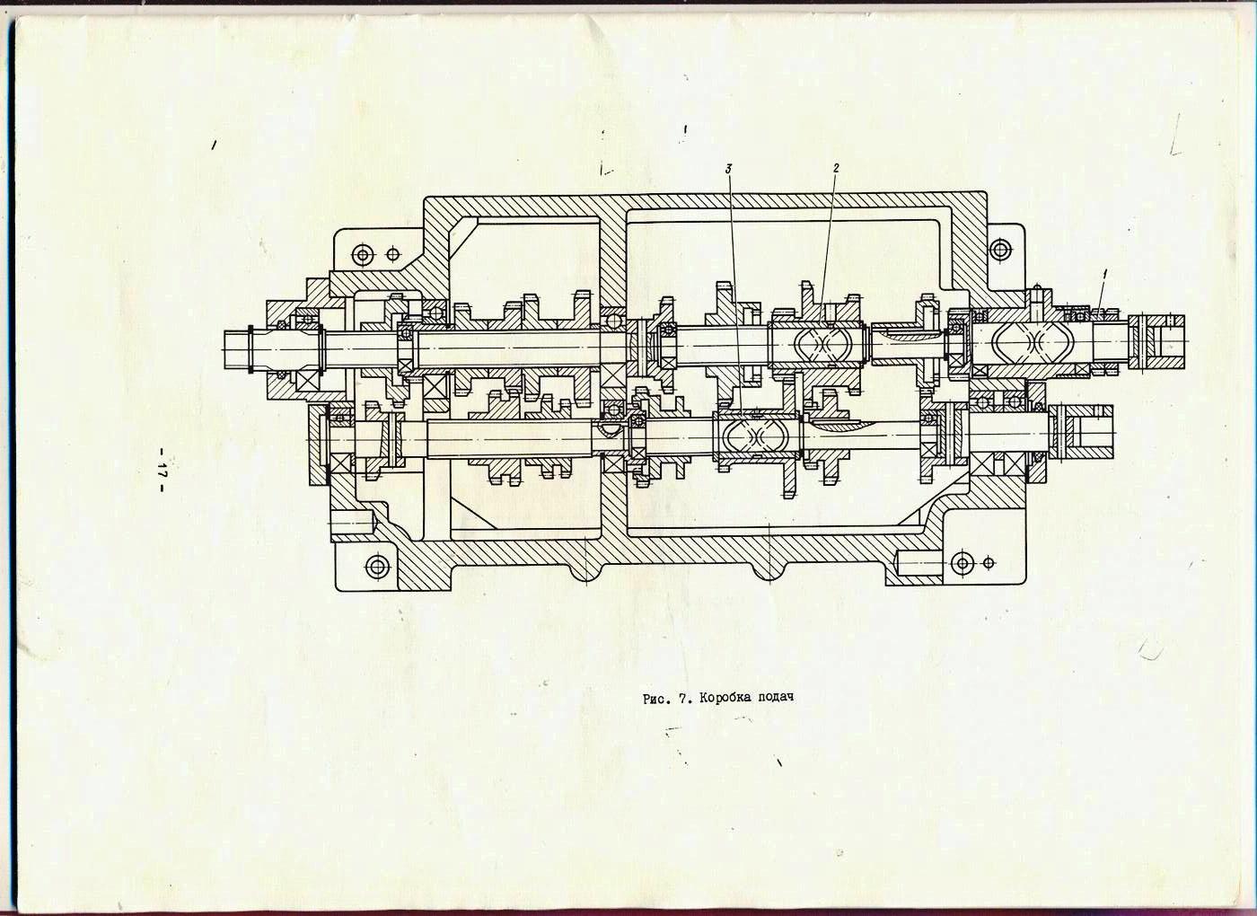 Схема главного привода токарного станка
